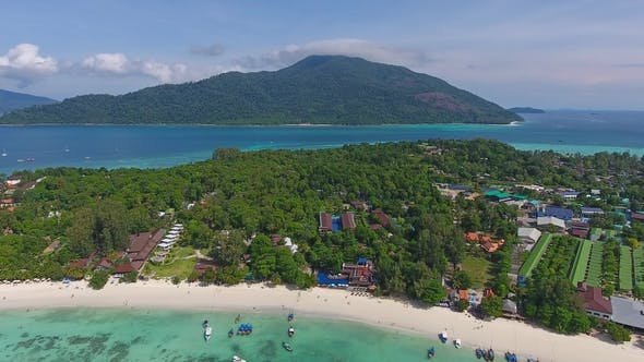 Thumbnail for Aerial View on Ko Lipe and Ko Adang Islands
