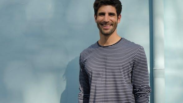 Thumbnail for Smiling Guy in Stripes