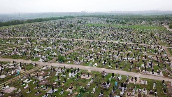 Thumbnail for Aerial View. The Biggest Cemetery in Europe
