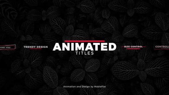 Thumbnail for Animated Titles Pack