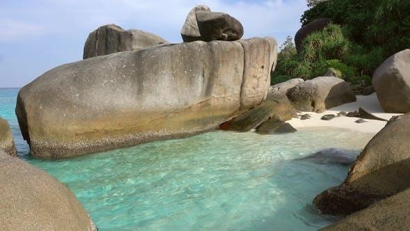 Cover Image for Beach Between Rocks on Similan Islands, Thailand