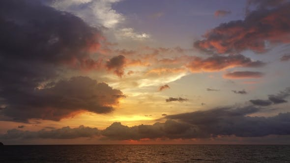 Thumbnail for Beautiful Landscape with Tropical Sea Sunset