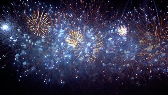 Colorful Fireworks Exploding in the Night Sky. Celebrations and Events in Bright Colors