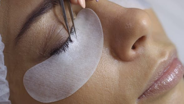 Thumbnail for Process of Making Eyelash Extension in Beauty Salon