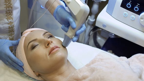 Thumbnail for Therapist Makes Rf-lifting Procedure of Facial Skin