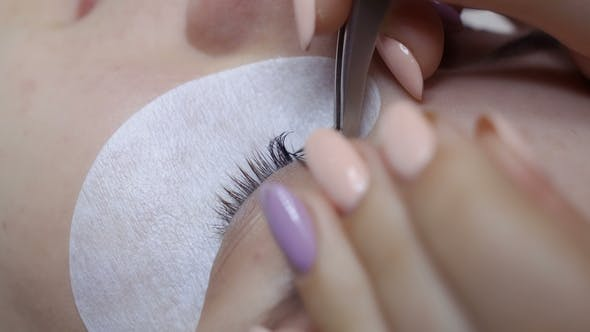 Thumbnail for Beautician Makes Eyelash Extension