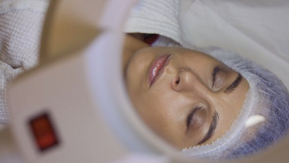 Thumbnail for Beautician Applies Eye Patch Preparing Client To Procedure of Eyelash Extension
