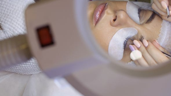Thumbnail for Procedure of Eyelash Extension in Beauty Salon