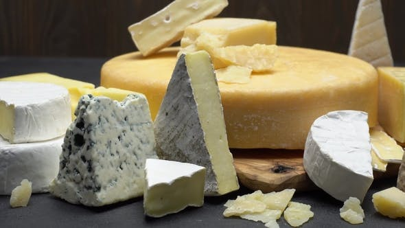 Thumbnail for Video of Various Types of Cheese - Parmesan, Brie, Roquefort