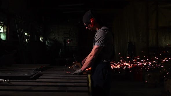 Thumbnail for Industrial Engineer Working on Cutting Steel with Compound Mitre Saw