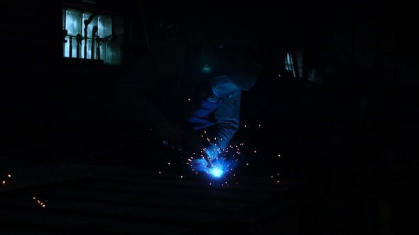Thumbnail for Industrial Worker Welding at the Factory