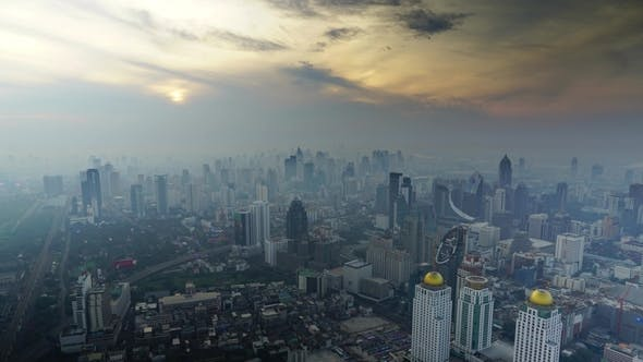 Thumbnail for Aerial Sunrise in Bangkok, Thailand