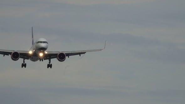 Thumbnail for Passenger Airplane Before Landing at Morning