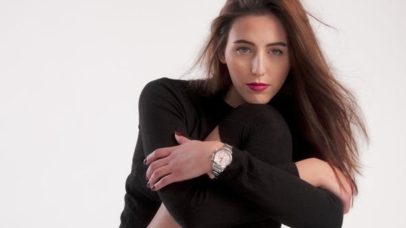 Thumbnail for Portrait of Woman Wears Black Jersey