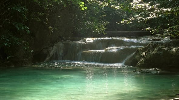 Thumbnail for Waterfalls of Erawan Cascade in Thailand