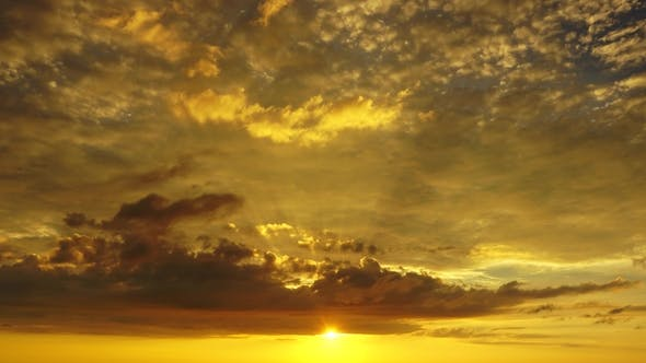 Thumbnail for Beautiful Tropical Sky at Sunset,