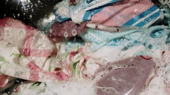 Washing Clothes in the Washing Machine