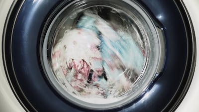 Washing Clothes in the Washing Machine