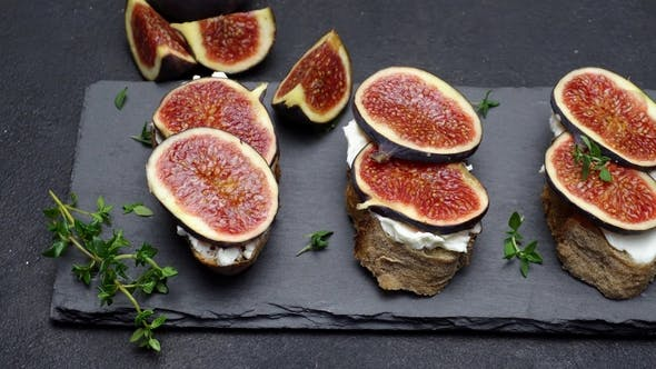 Thumbnail for Bruschetta with Figs and Creme Goat Cheese