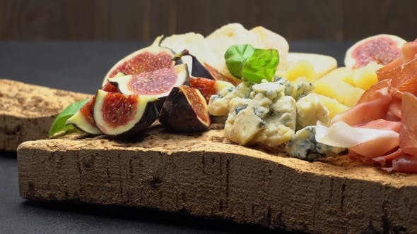 Thumbnail for Traditional Cheese and Meat Plate Wth Parma, Parmesan and Figs