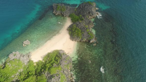 Thumbnail for Seascape of Caramoan Islands at Camarines Sur in Philippines