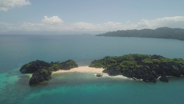 Seascape of Caramoan Islands, Camarines Sur, Philippines.
