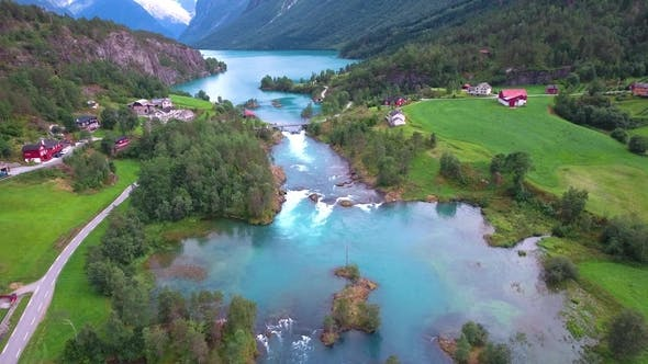 Thumbnail for Lovatnet Lake Beautiful Nature Norway