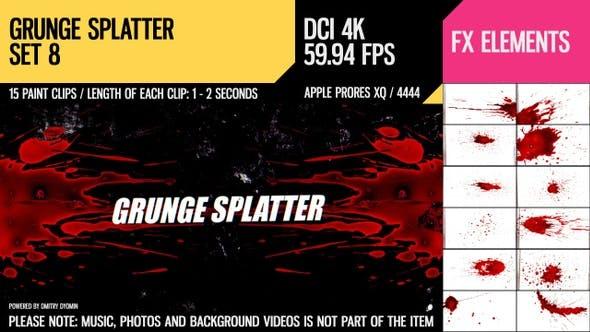Thumbnail for Grunge Splatter (4K Set 8)