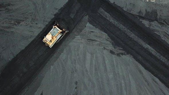 Thumbnail for Crawler Bulldozer Sorts Coal Into a Thermal Power Plant