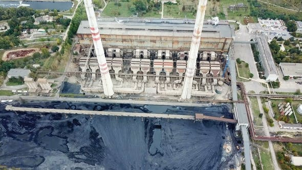 Thumbnail for Aerial View of Thermal Power Station