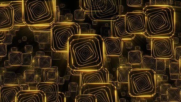 Thumbnail for Golden Falling Squares 2