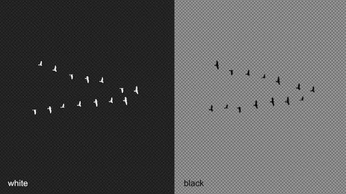 Migration Of Birds Silhouettes - V Formation