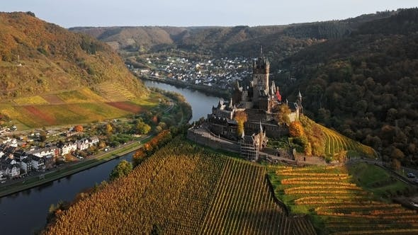 Thumbnail for Flight over Cochem Castle in Germany