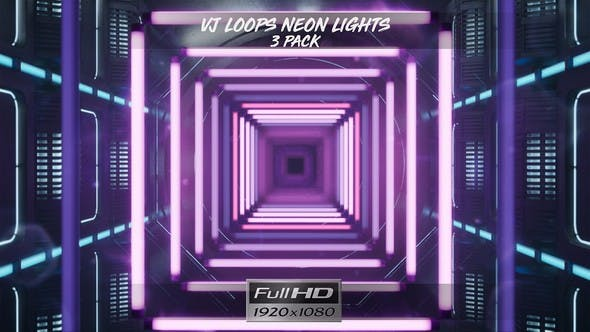 Thumbnail for VJ Loops Neon Lights Ver.3 - 3 Pack