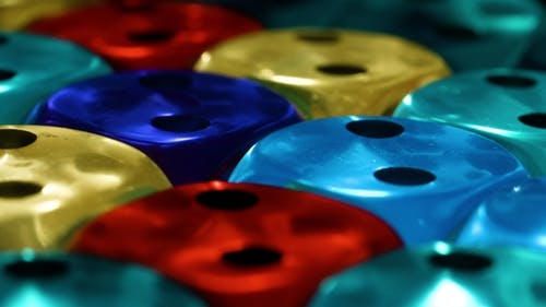 Multicolor Dice Rotate Screensaver for Casinos