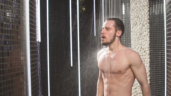 Thumbnail for Brutal Handsome Guy Is Becoming Forged Under Cold Shower
