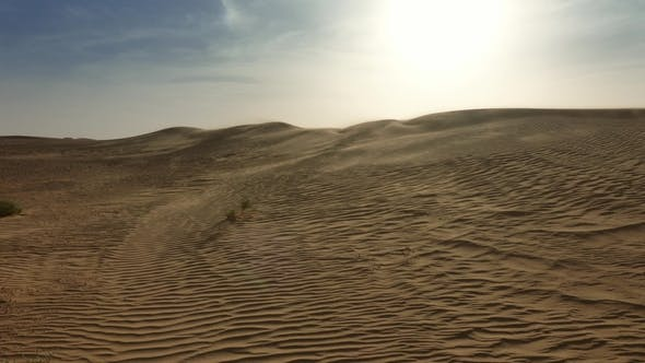 Thumbnail for Sand Blowing Over Dunes in Wind, Sahara Desert