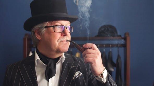 Thumbnail for Portrait of Posh Mature Gentleman Visiting a Tailor's Shop