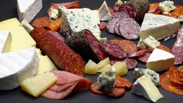 Thumbnail for Various Types of Italian Food - Cheese, Sausage and Tomatoes
