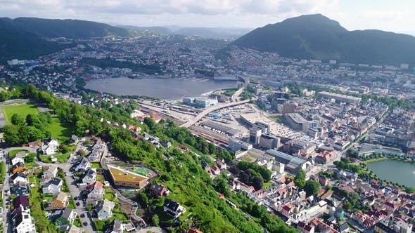 Thumbnail for Bergen City and Municipality in Hordaland on the West Coast of Norway