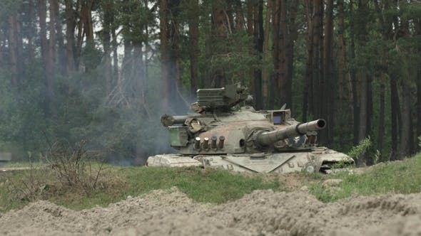 Thumbnail for Military Tank Shoots on the Target