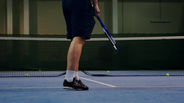 Thumbnail for Serve by Professional Tennis Player Indoor