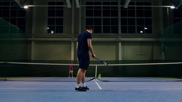 Cover Image for Serve by Professional Tennis Player Indoor