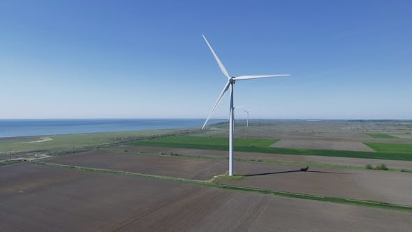 Thumbnail for Wind Electric Generator - Power Stations in Field.