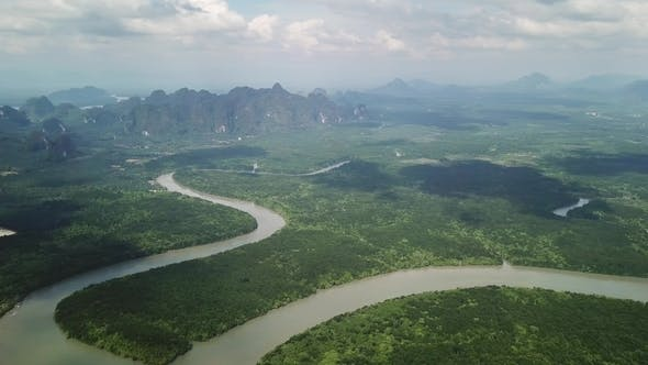 Thumbnail for Phang Nga Bay with Mangrove Forest and Hills