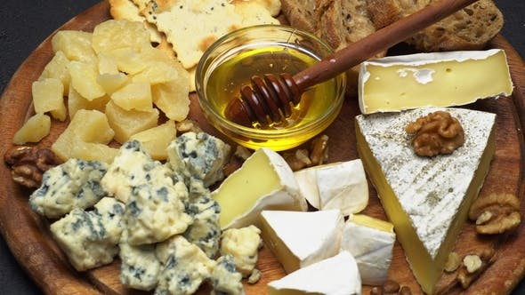 Thumbnail for Video of Various Types of Cheese - Parmesan, Brie, Cheddar