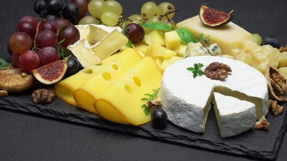 Cover Image for Video of Various Types of Cheese - Parmesan, Brie, Cheddar