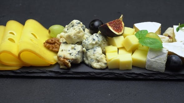 Thumbnail for Video of Various Types of Cheese - Brie, Cheddar, Dorblu, Parmesan