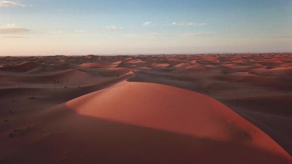 Thumbnail for Sand Dunes and and Flying Crows in Sahara Desert