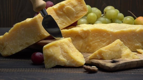 Cover Image for Pieces of Parmesan or Parmigiano Cheese